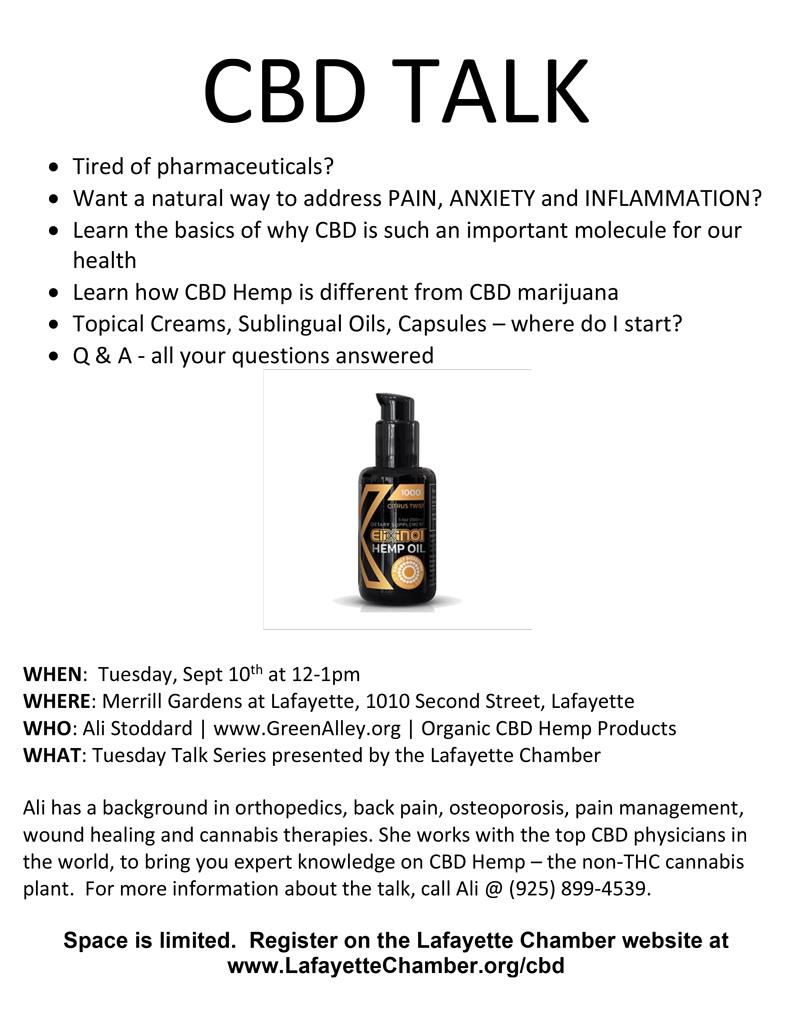 Tuesday Talk: CBD