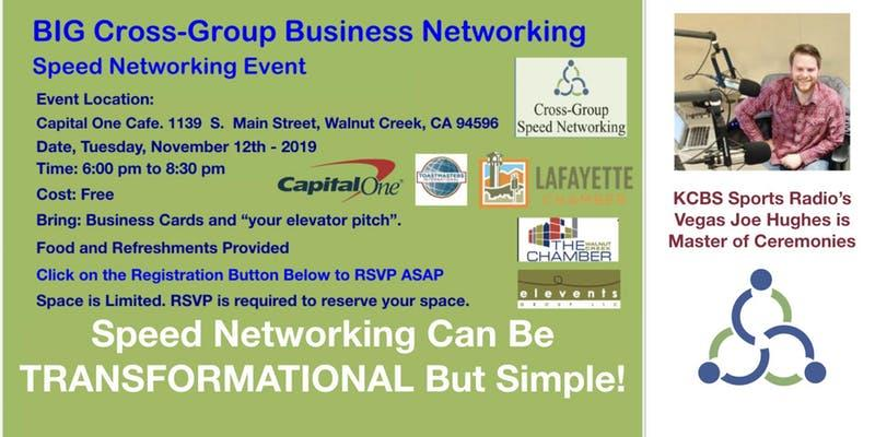 FREE Cross-Group Speed Networking Event
